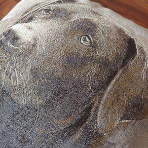 Home Decor Accents - Labrador Retriever Throw Pillow Black Lab